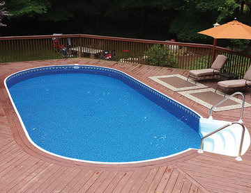Radiant Oval Above Ground Pool with Composite Decking