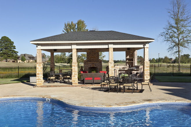 Traditional Pool by Classically Yours Interiors (CYInteriors)