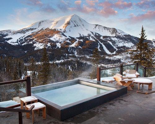 Fotos de piscinas dise os de piscinas r sticas con losas - Losas para piscinas ...