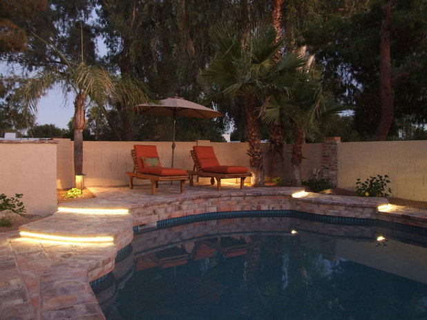 No fall guys please ideas for lighting your outdoor steps for Pool design by laly llc