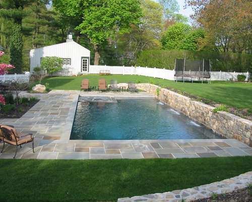 Best pool retaining wall design ideas remodel pictures for Pool design houzz