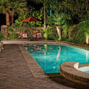 Inspiration for a mediterranean pool remodel in San Diego