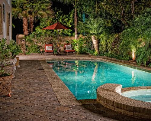 Mediterranean Pool Design Ideas, Remodels & Photos