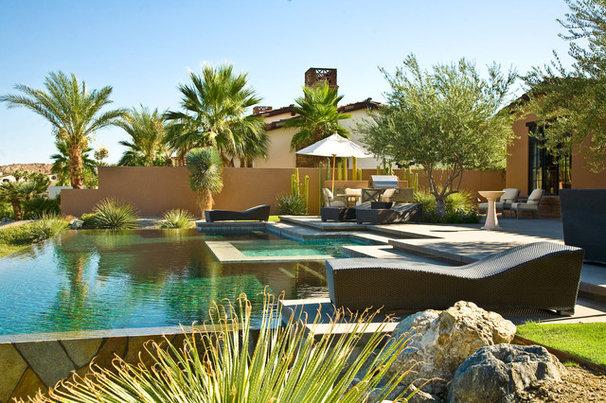 Mediterranean Pool by Sennikoff Architects