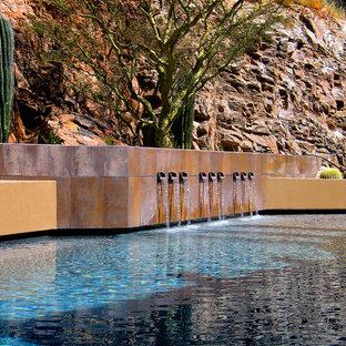 フェニックスのオーダーメイドサンタフェスタイルのおしゃれなプールの写真