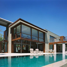 Exterior by modern house architects
