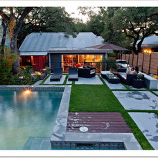 Modern Pool by breaux design group