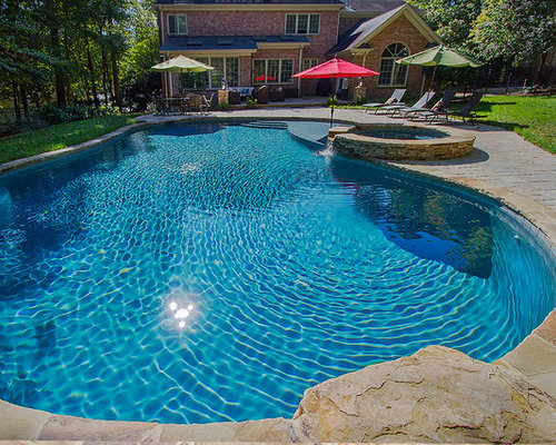 Rustic raleigh outdoor design ideas remodels photos for Pool design raleigh nc