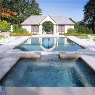 Rectangle, Gunite, Swimming Pool and Hydrotherapy Spa, Tahoe Blue Pebble Finish