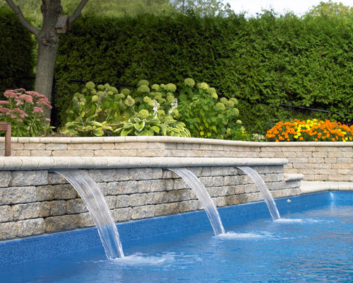 rectangle pool with sheer descent water feature 27 saves 0 questions - Rectangle Pool With Water Feature