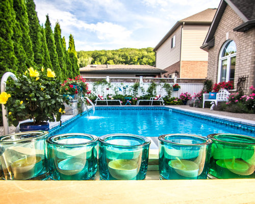 Rectangle pool with water feature in grimsby - Rectangle pool with water feature ...