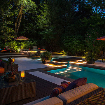 Rectilinear Outdoor Inground Swimming Pools