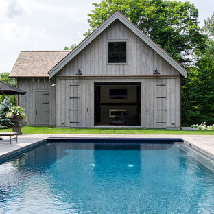 Design ideas for a small country pool in New York.