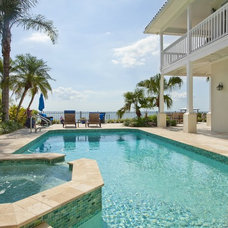 Traditional Pool Remodeled Pool and Spa
