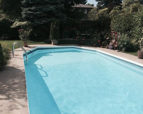R novation compl te piscine toile plages beton st for Renovation piscine beton
