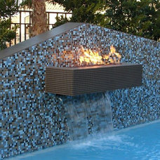 Contemporary Pool by T Brothers Tile LLC