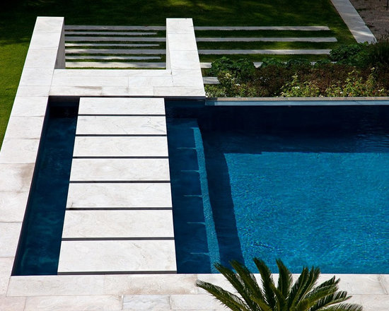 Dark Blue Pool Water dark blue pool design ideas, remodels & photos