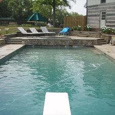 Traditional Pool by Iris Design Associates