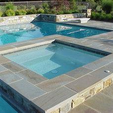 Contemporary Pool by Iris Design Associates