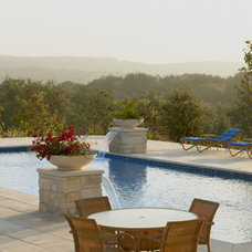 Mediterranean Pool by Powell Landscape Architecture