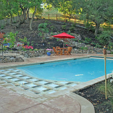 Contemporary Pool by Alder Group, Pool and Landscape Co.