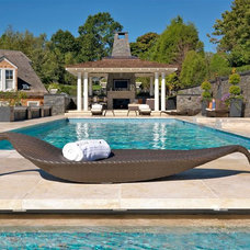 Contemporary Pool by Haifa Limestone