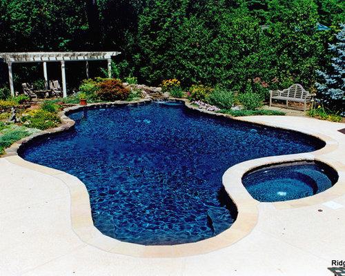 Dark blue pool design ideas renovations photos for Pool design houzz