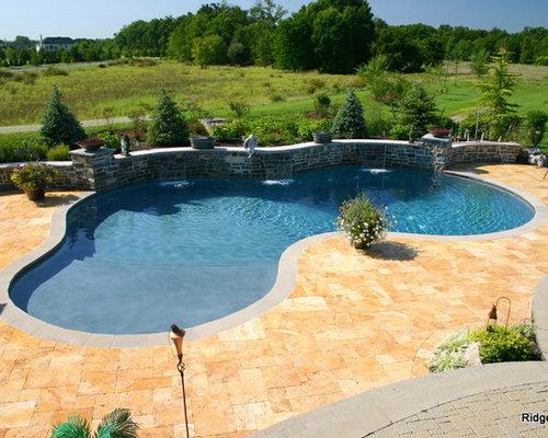 Raised bond beam home design ideas pictures remodel and - Fibreglass swimming pool bond beam ...
