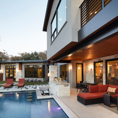 contemporary pool by Cornerstone Architects