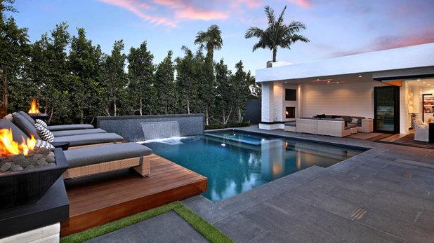Contemporary Pool by AMS Landscape Design Studios, Inc.