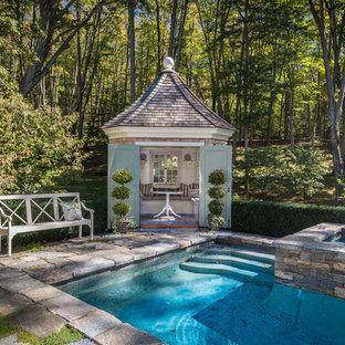 Удачное сочетание для дизайна помещения: бассейн в стиле шебби-шик - самое интересное для вас