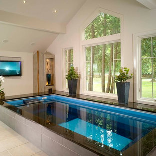 75 Beautiful Modern Indoor Pool Pictures Ideas February 2021 Houzz