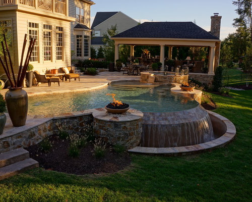 Country pool home design ideas pictures remodel and decor for Country pool ideas