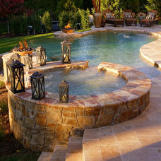 Contemporary Pool by Town & Country Pools, Inc.