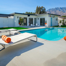 Midcentury Pool by House & Homes Palm Springs Home Staging