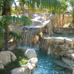 Rock Pool with Lazy River - Tropical Garden Style