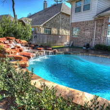 Rustic Pool by Absolutely Outdoors