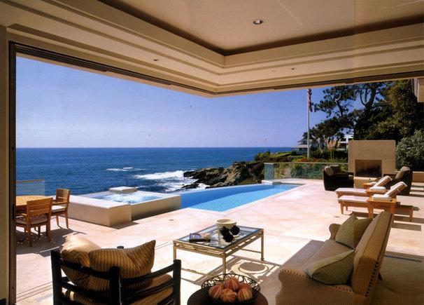 Beach Style Patio by Studio H Landscape Architecture