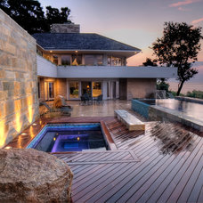 Contemporary Pool by ZEN Associates, Inc.