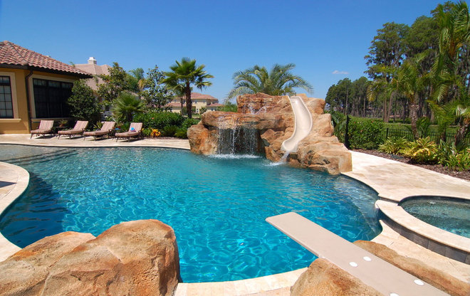 mediterranean pool by Travertine Warehouse