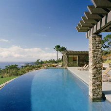 Contemporary Pool by Ron Herman Landscape Architect