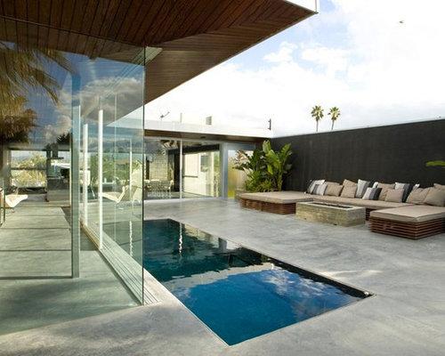 Fotos de piscinas dise os de piscinas peque as en azotea for Piscina rectangular pequena