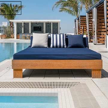 Rooftop Poolside Upholstery and Outdoor Curtains