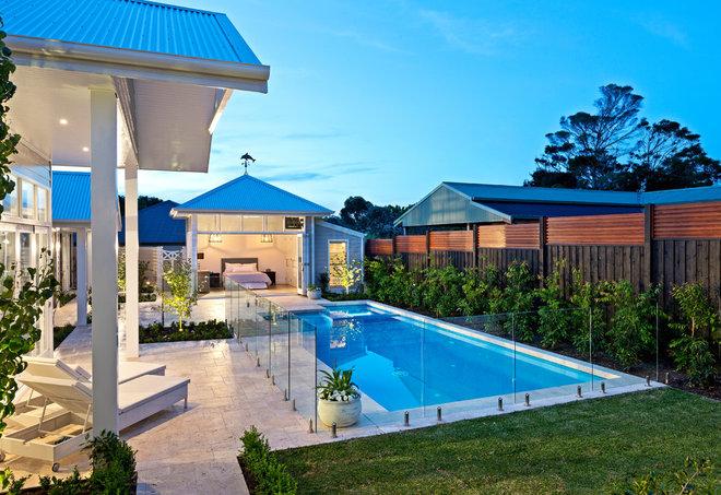 Beach Style Pool by Bayon Gardens