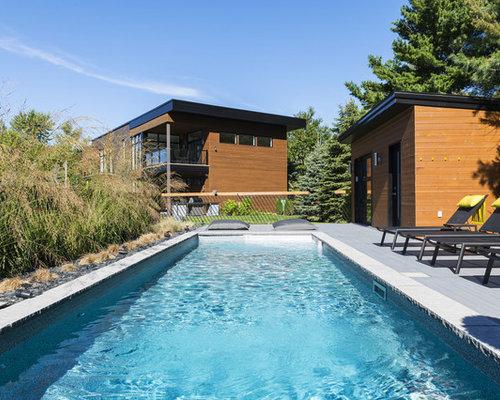 Petit moderne photos et id es d co d 39 abris de piscine et for Piscine minimaliste