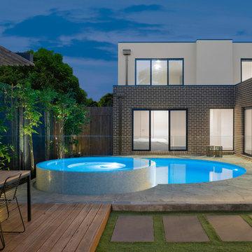 Round Courtyard Pool
