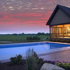 Traditional Pool by Kieran J. Liebl,  Royal Oaks Design, Inc. MN