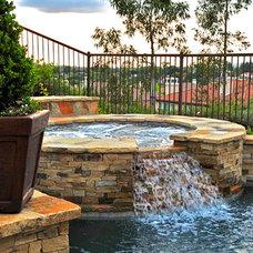 Mediterranean Pool by Rue Group, Inc. / Kathryn Rue, Landscape Architect