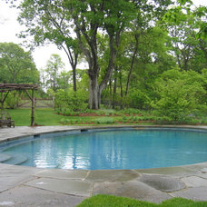 Traditional Pool by HARRIS Landscape Architecture