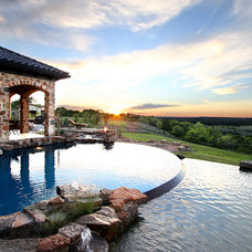 Mediterranean Pool by Zbranek & Holt Custom Homes